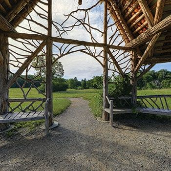 """Where in the Hudson Valley Contest: """"Pitched Pavilion"""" Log Gazebo"""