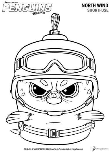 Free Printable Penguins Of Madagascar Shortfuse Coloring Page