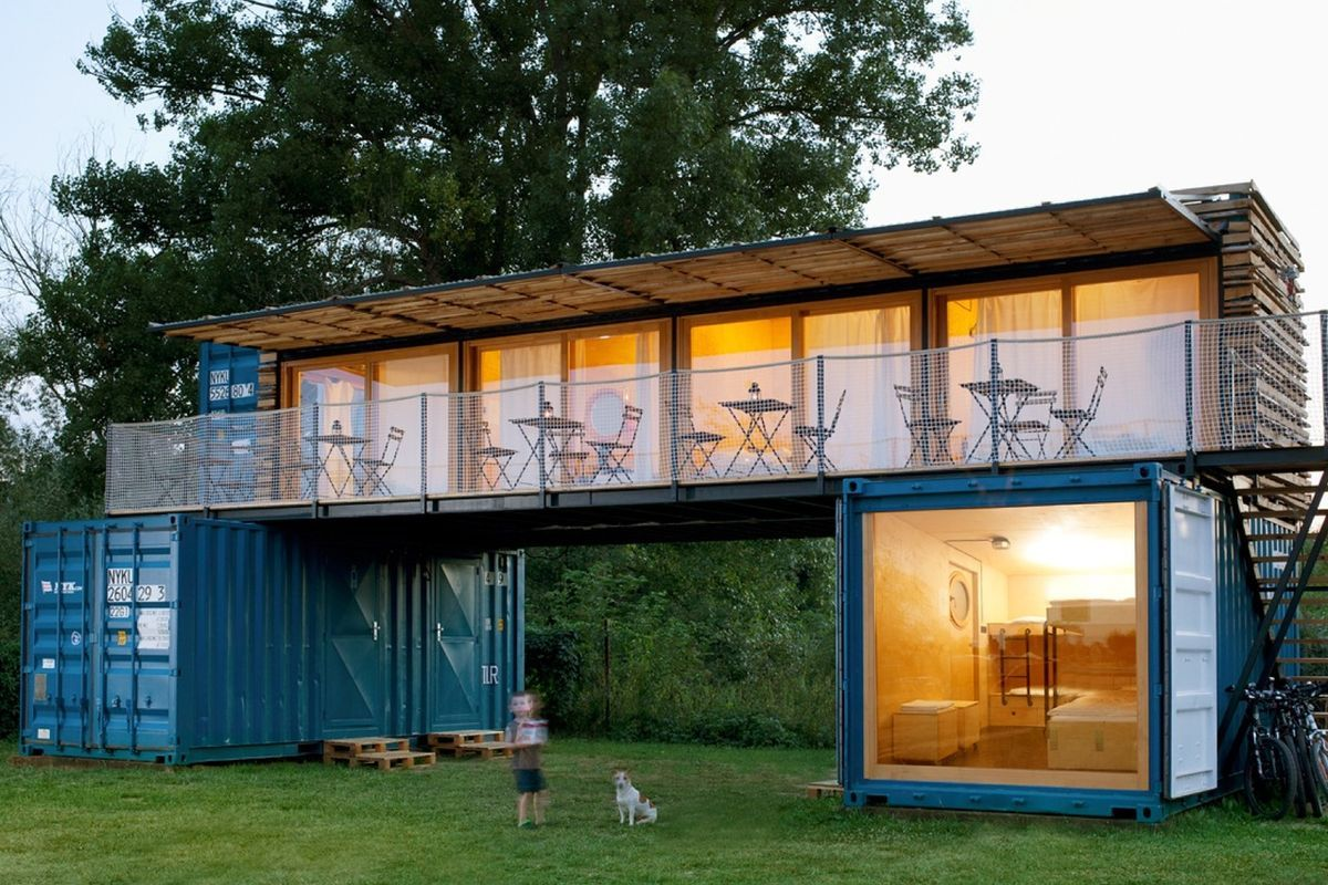 shipping container hotel offers eco friendly getaway for surfing nomads - Eco Friendly Shipping Container Homes