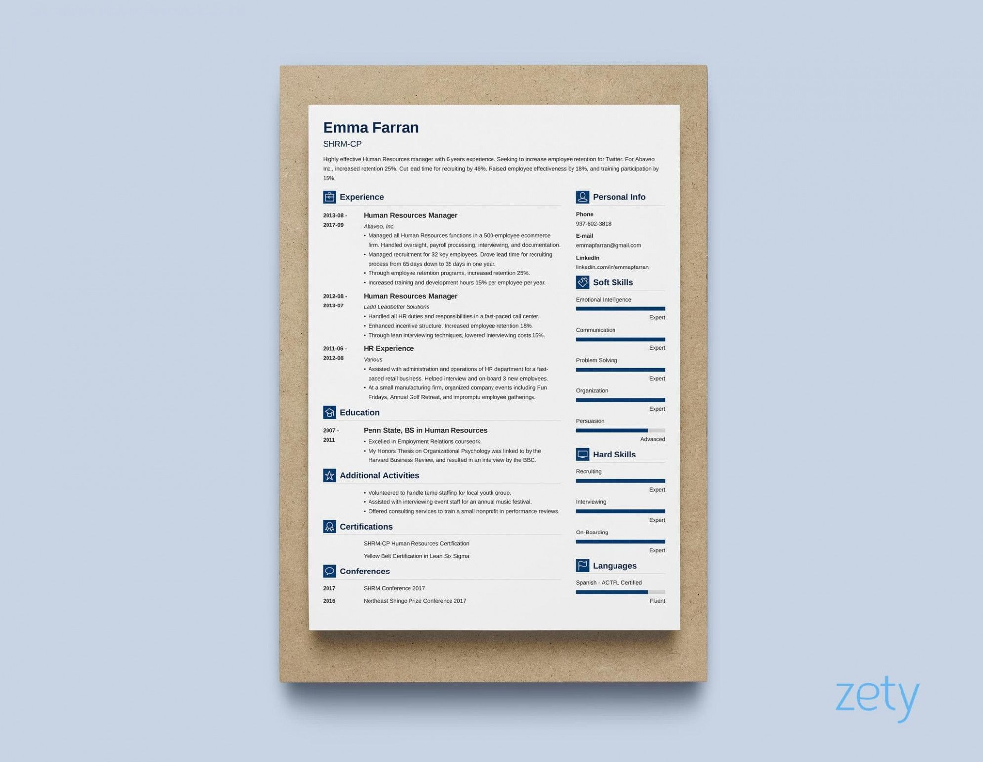 dance resume template google docs