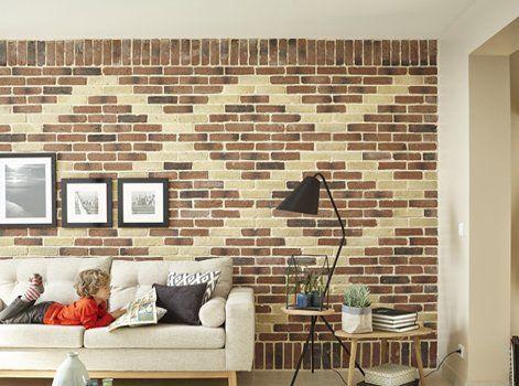 D coration murale parement en briques leroymerlin for Decoration murale brique