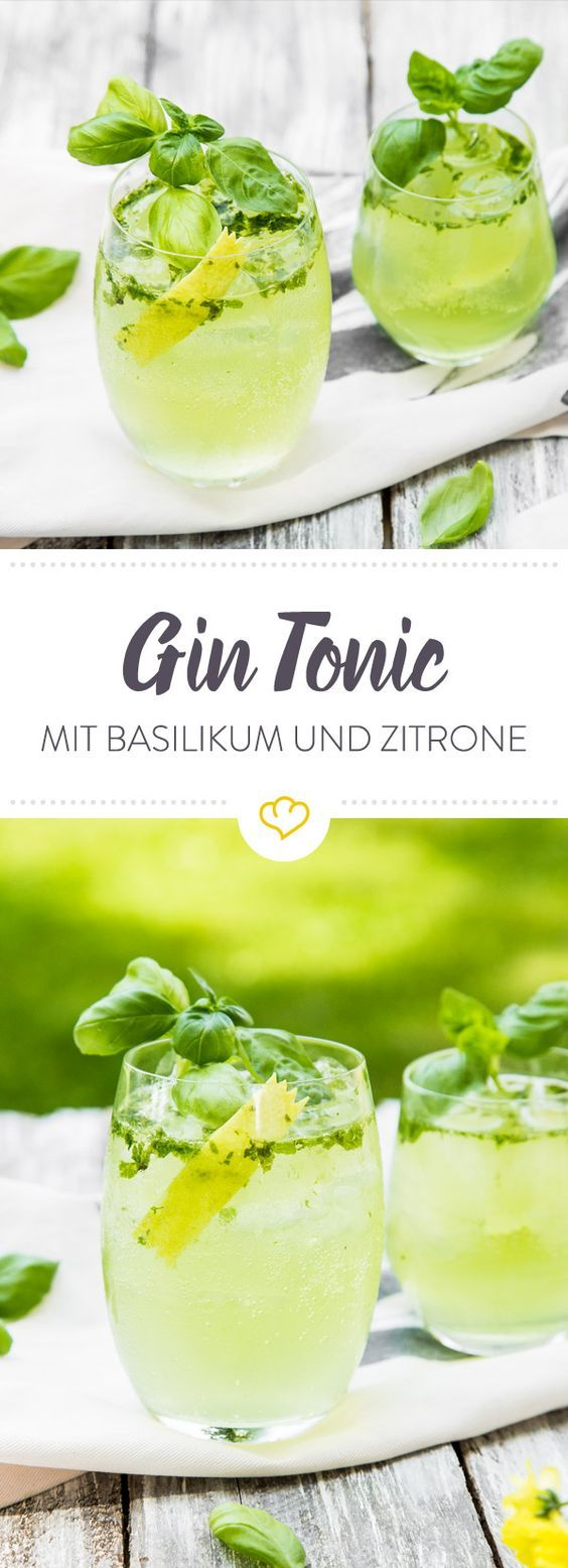 Lemon & Basil Gin Tonic #refreshingsummerdrinks