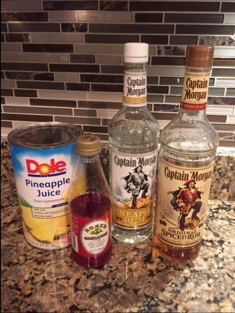 Captain Morgan Pineapple Rum Punch Recipe Rum Punch Recipes Rum Punch Pineapple Rum