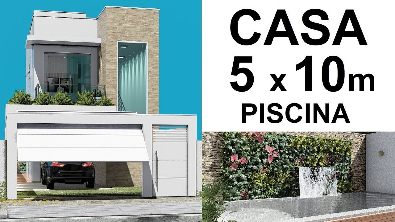CASA PEQUENA DE 5 x 10 METROS PISCINA COM CASCATA