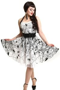 Gothic Kleid im Corsagenlook - Black Crows