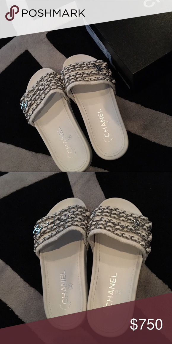 be8a4fd5c591 Chanel Tropiconic chain sandals slides. Size 36 6 Chanel Tropiconic chain  sandals. Size 36