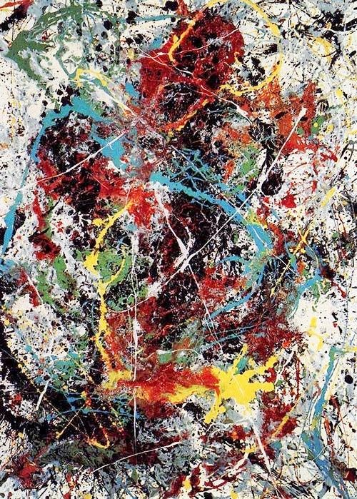 Jackson Pollock. This is an effective piece of art as the layers of paint with the bold colours give off an interesting and textured look.