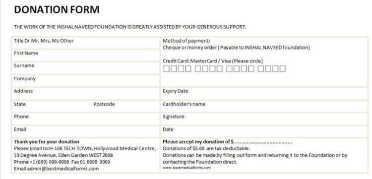 6 Charitable Donation Form Templates Donation Form Donation