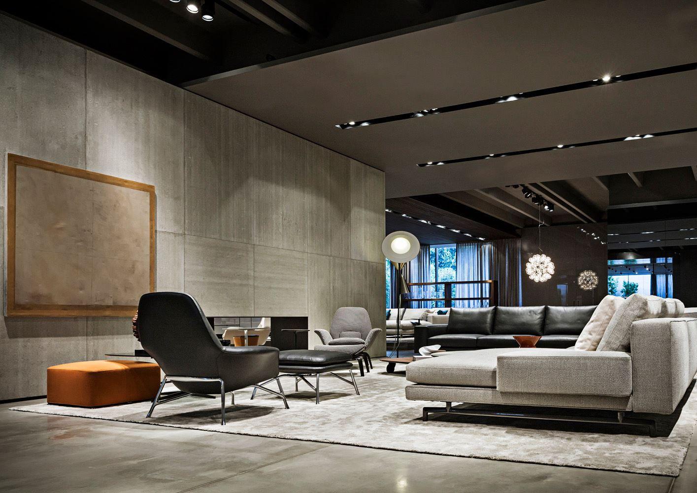 Spazio minotti dedece blog dedece blog 05a the mall pinterest blog interiors and for Living room furniture showrooms