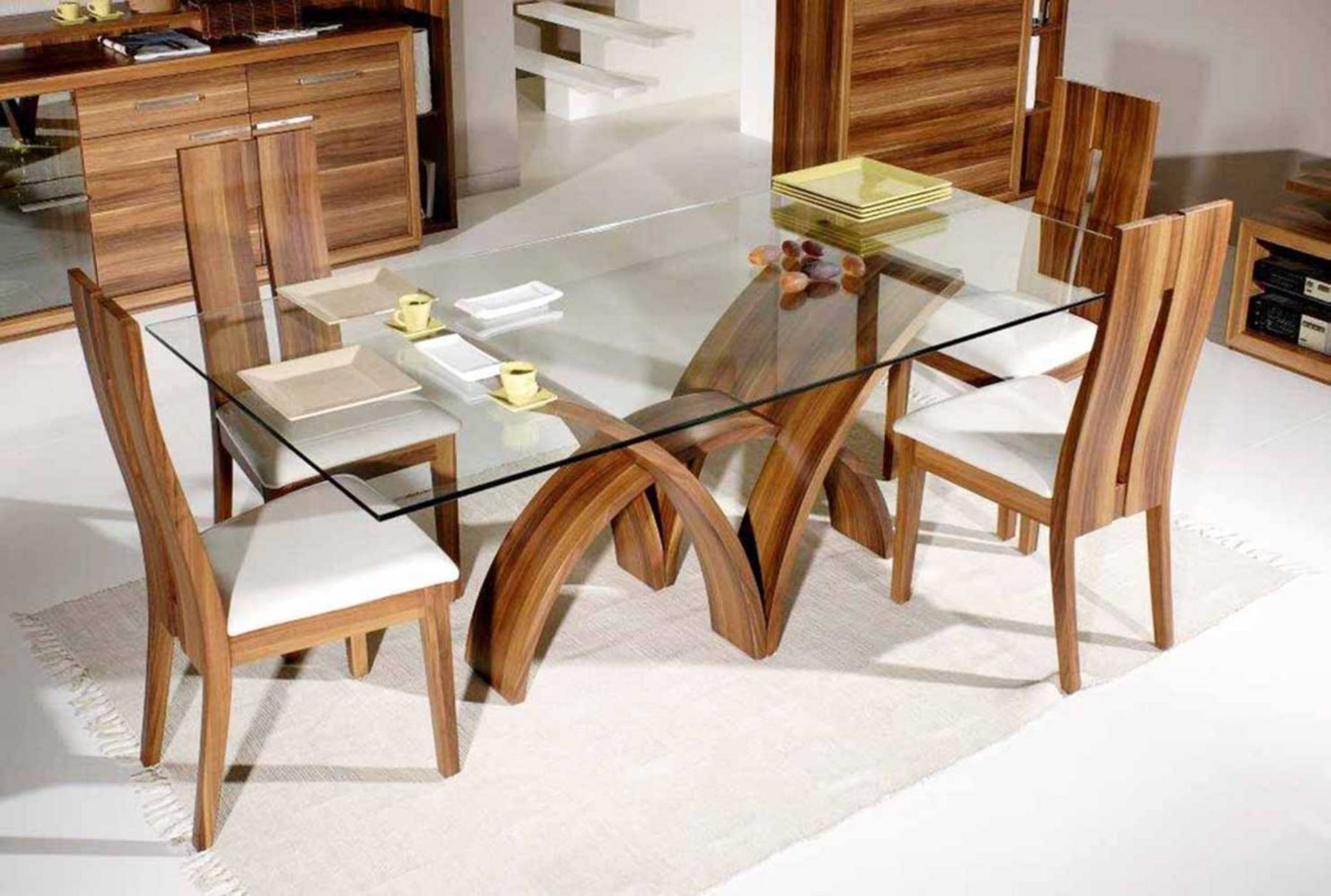 12 Contemporary Dining Table Design Ideas For Your Dining Room Comfort Glass Top Dining Table Dining Table Design Glass Dining Room Table