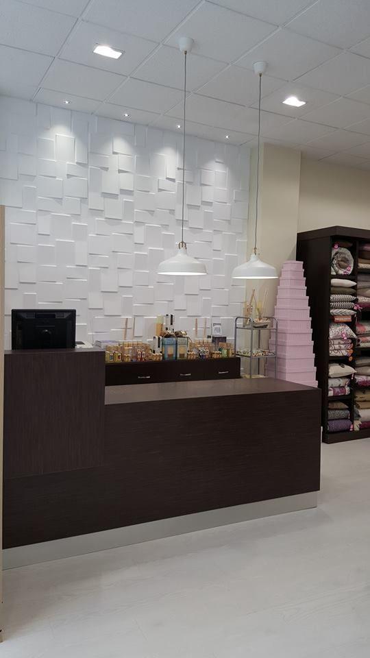 Una tienda de decoración utilizó nuestros paneles 3D Rubik para la