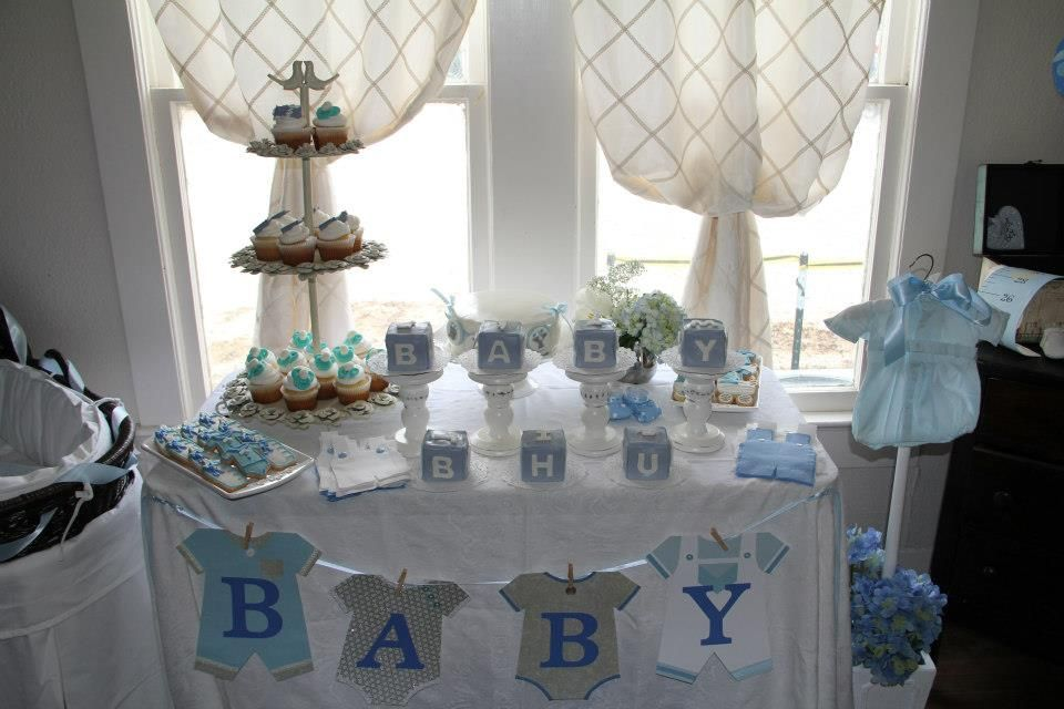 Baby Shower Table Decorations For Boys My Cake