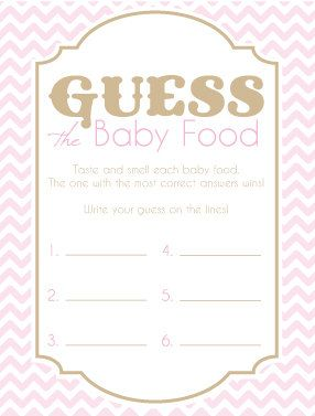 game modern baby showers gold chevron game cards baby shower games