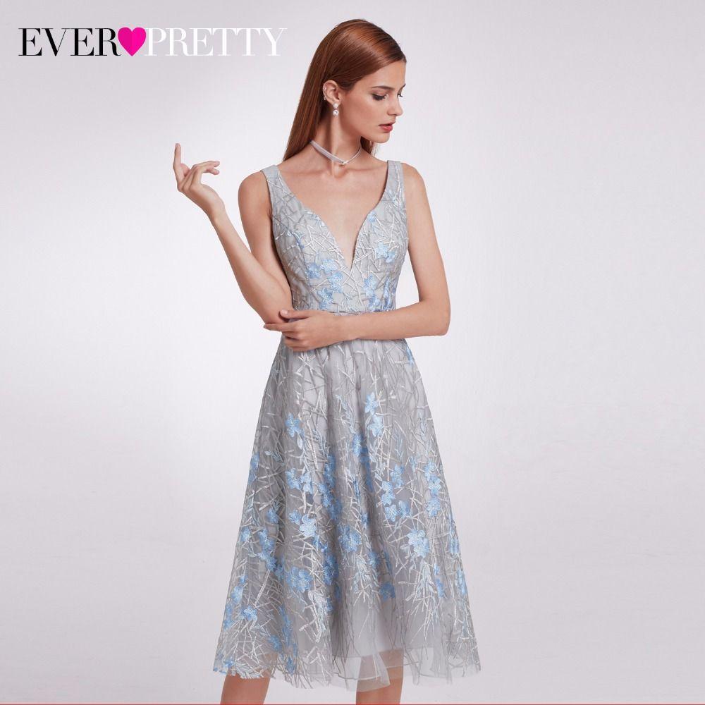 Ep unique lace prom party dresses womenus kneelength elegant