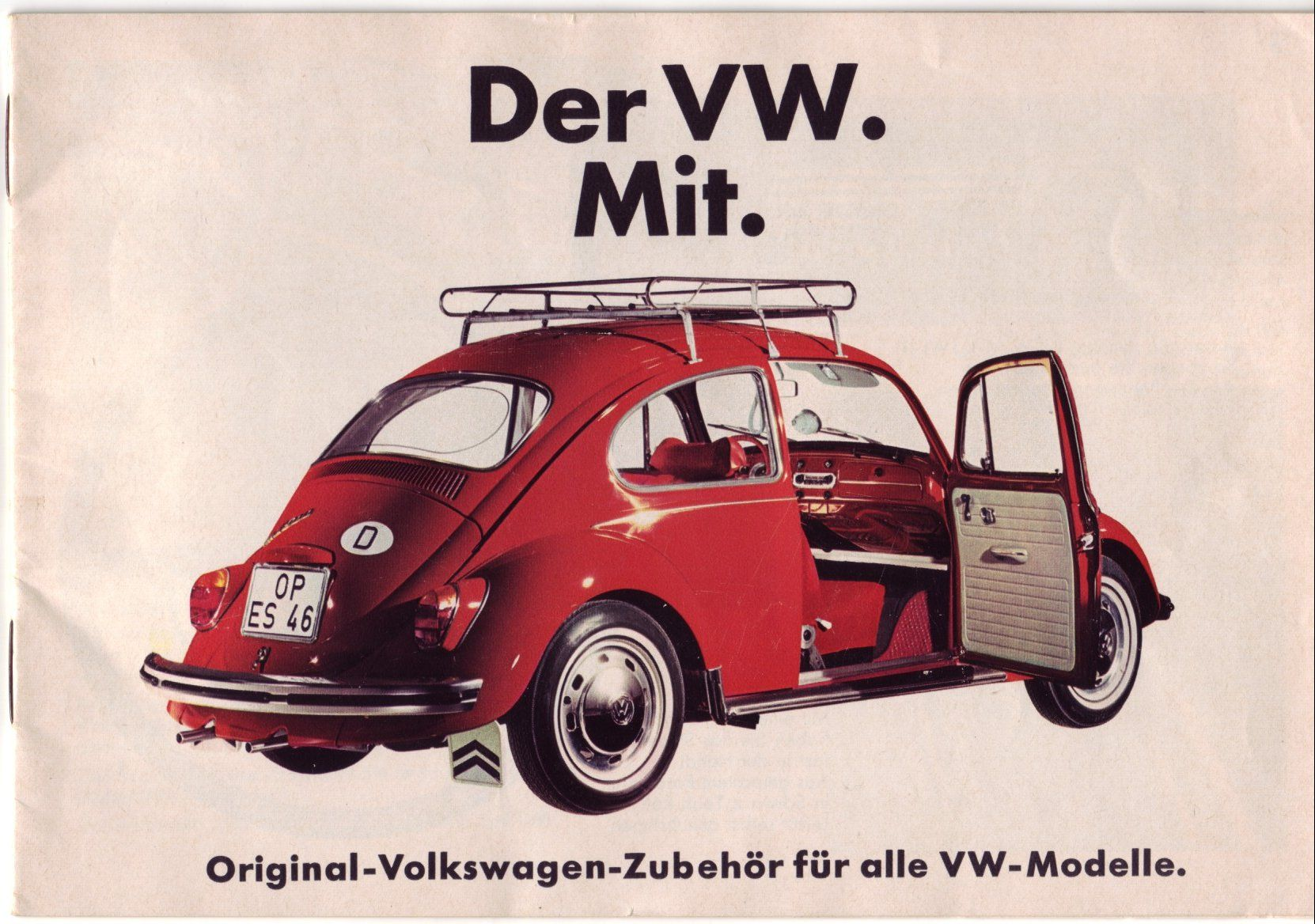 1969 German accessory catalog Volkswagen, Anuncios