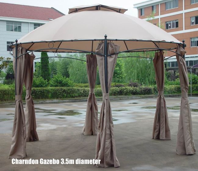 Gentil Charndon Luxury Round Garden Gazebo