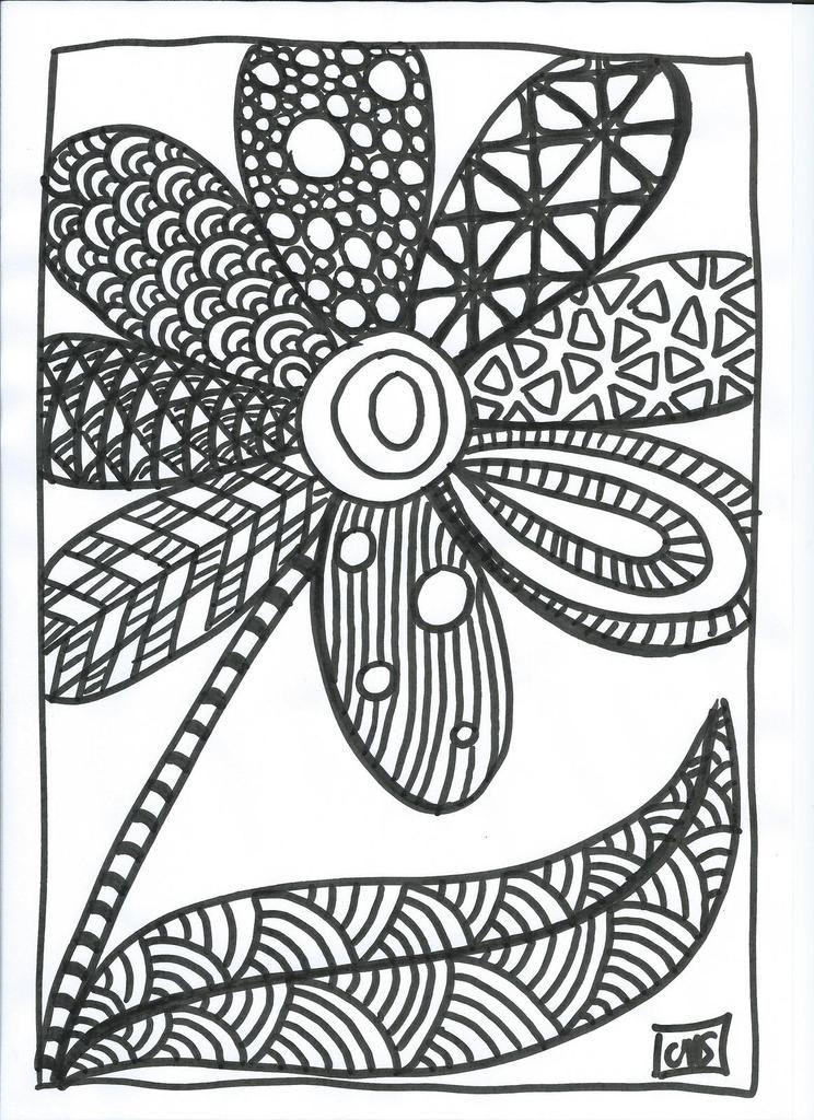 Gribouillages et coloriages en vrac maternelle - Fleur en coloriage ...