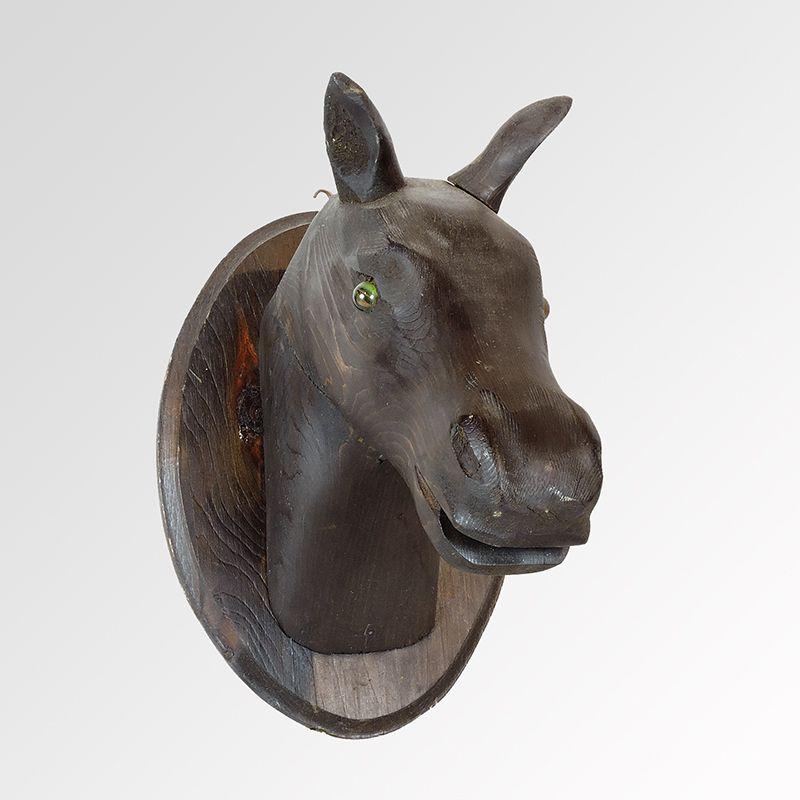 Canadian Carved Mahogany Horse Head Wall Plaque www.rareelements.com
