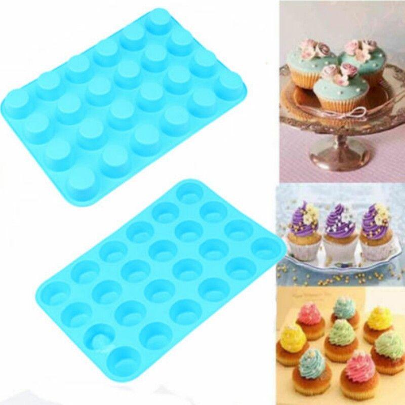 silicone cupcake mold diy 24 cavity non stick muffin baking