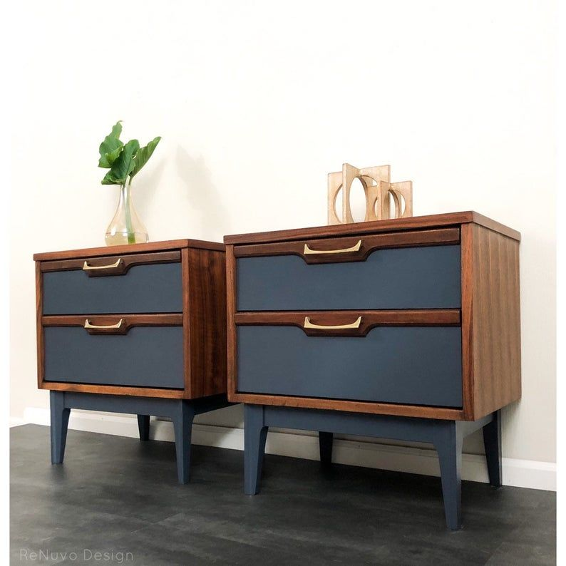 SOLD!!!!   Mid Century Modern Bedside Tables