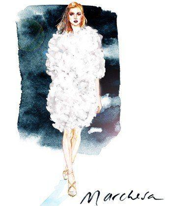 Marchesa: Fashion Week Illustrated: Artist Samantha Hahn's Painted Take On the NYFW Runways