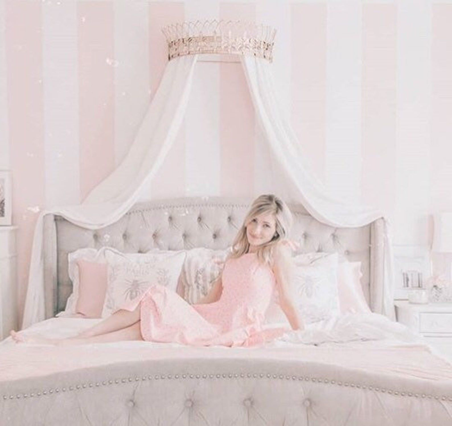 - Crown Canopy, Bed Canopy, Bed Crown, Wall Crown, Crown Wall Décor