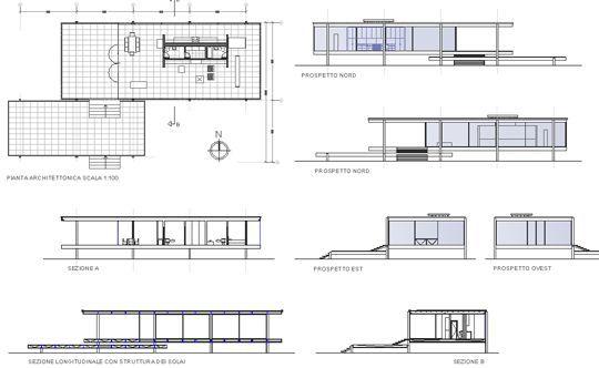 farnsworth house | Projetos de casas modernas, Farnsworth
