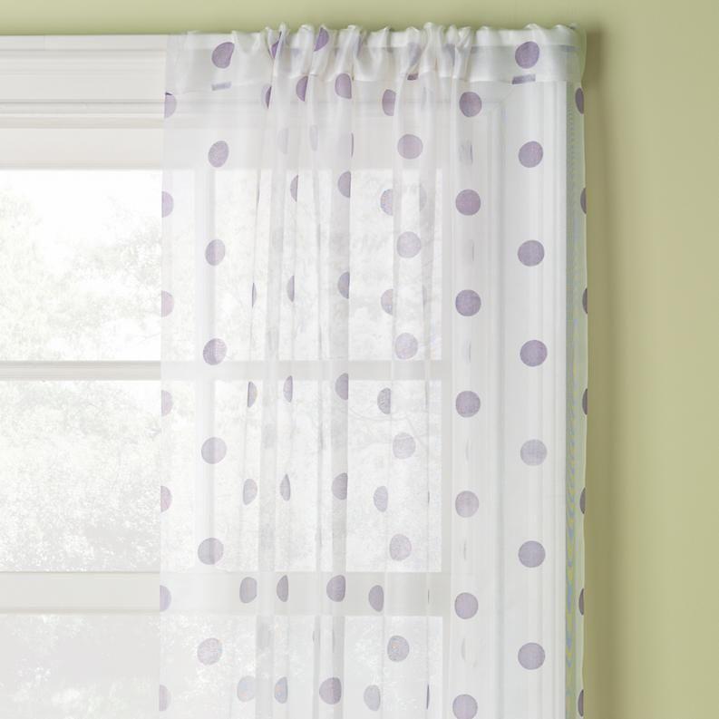 Lavender Dot Curtain Panels Polka Dot Curtains Kids Curtains