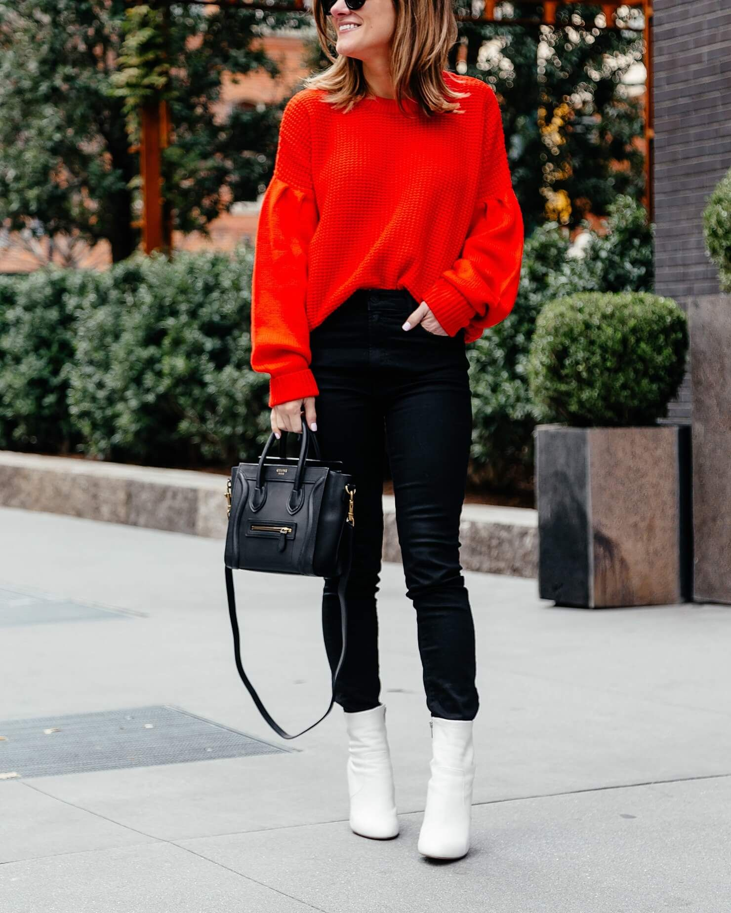 e3a09a215280d I finally wore my white booties | fall&winter | White shoes outfit ...