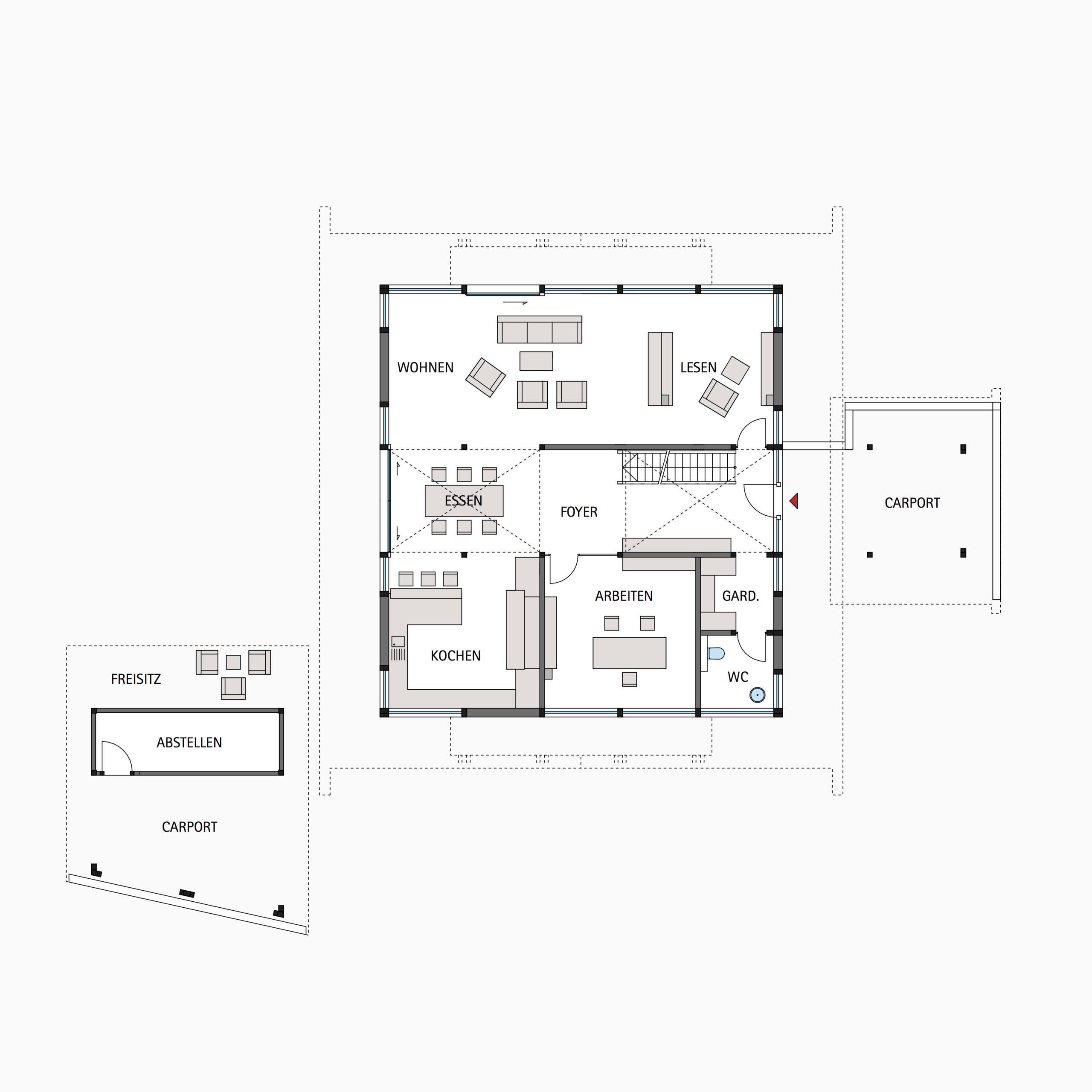 HUF Fachwerkhaus Grundriss Erdgeschoss ART 5 Haus, Haus