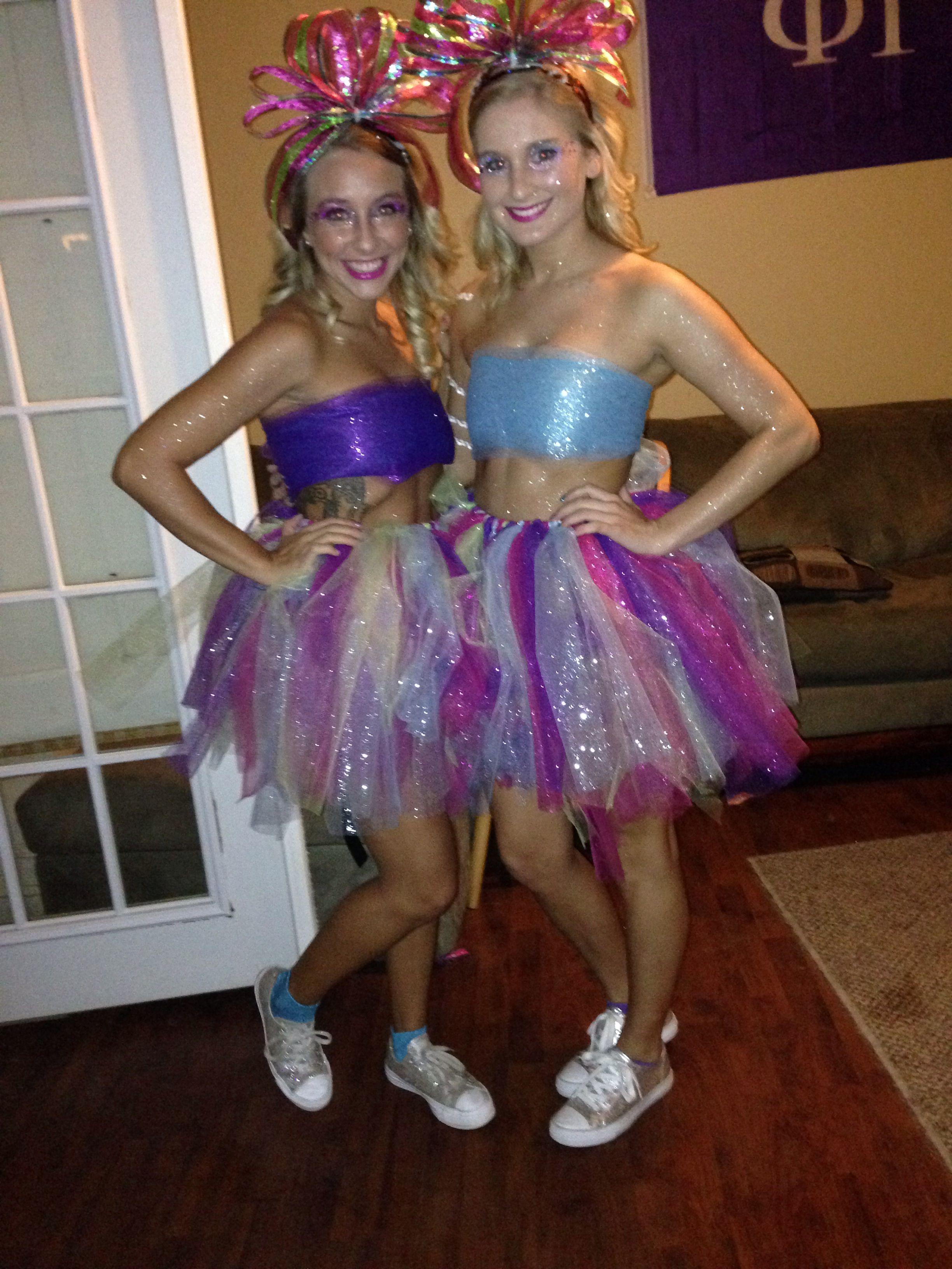 Glitter Halloween Costume sparkle blonde bestfriends