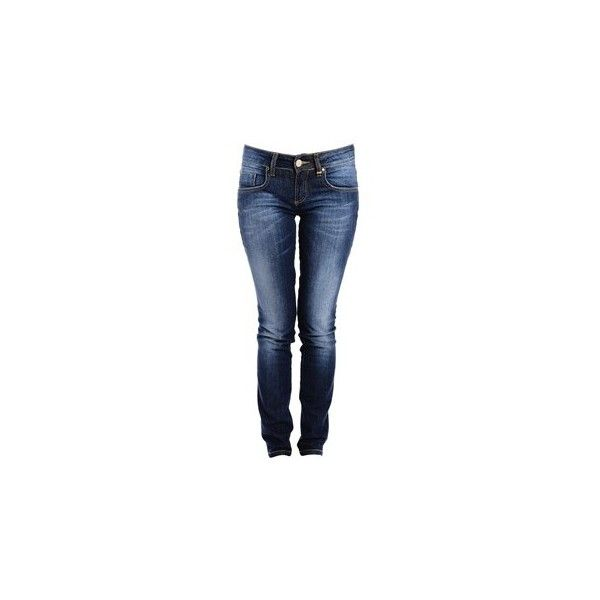 CARLOS MIELE FADED Dark Blue Jeans (€185) ❤ liked on Polyvore featuring jeans, dark blue jeans, skinny jeans, faded blue jeans, faded skinny jeans y super skinny jeans