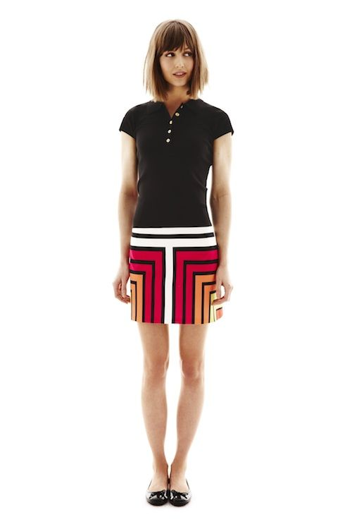 Worthington Polo Sweater And Printed Skirt