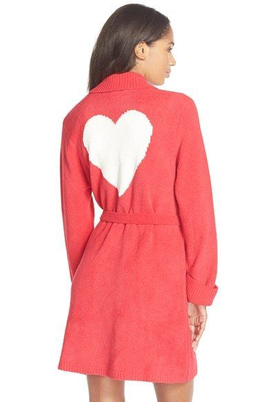 Betsey Johnson Heart Back Sweater Robe  8fa631c33