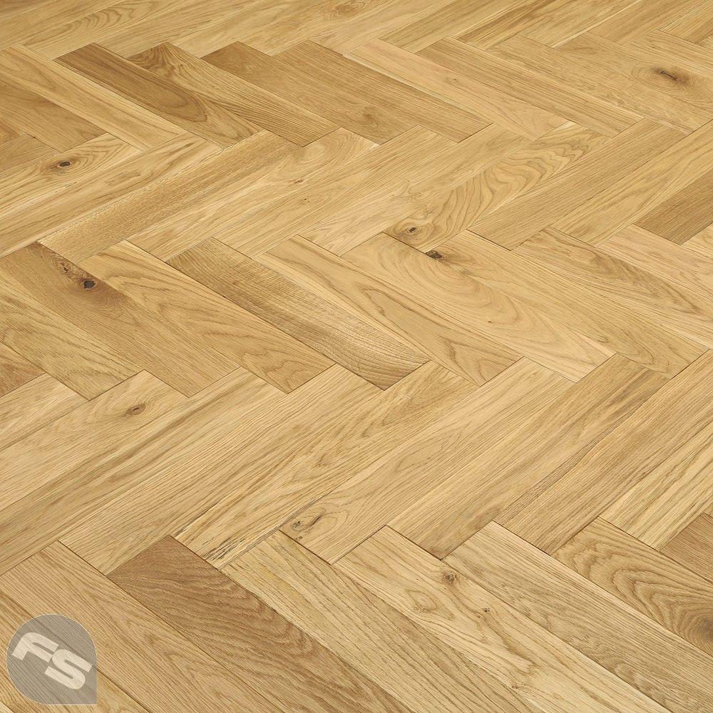 Park Avenue Herringbone Natural Oak Solid Wood Flooring