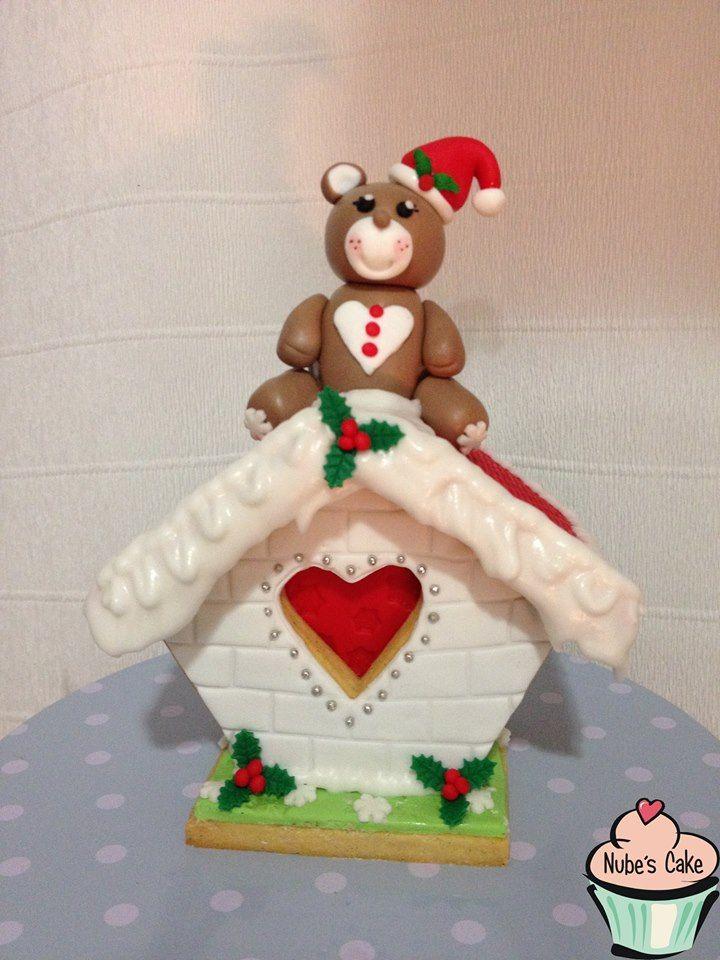 Casita Galletas Navidad Decorada Fondant Y Glasa