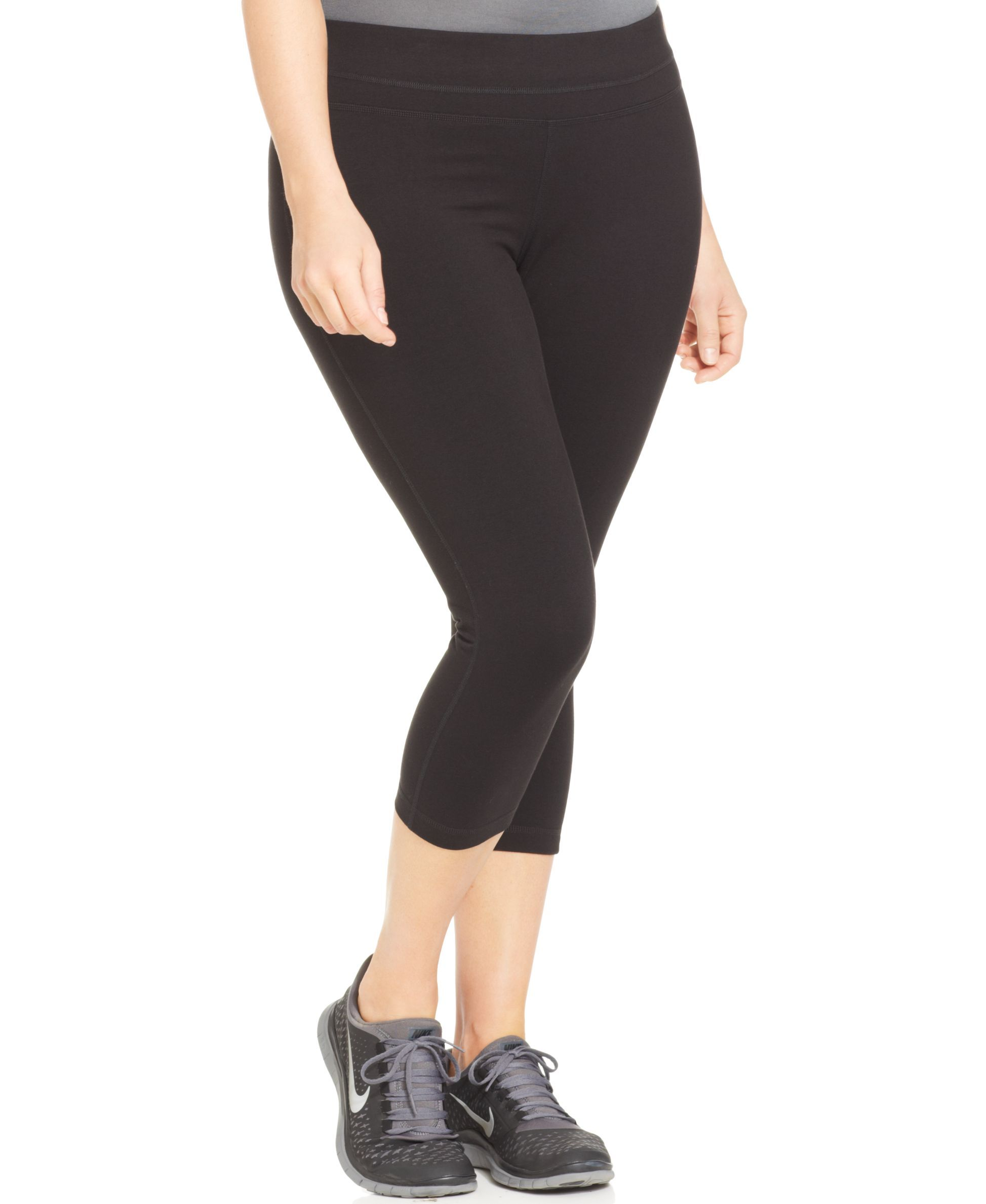 ideology plus size cropped leggings, created for macy's   capri