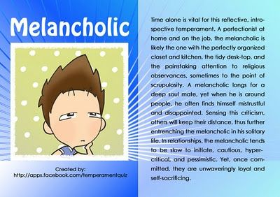 Melancholic personality traits