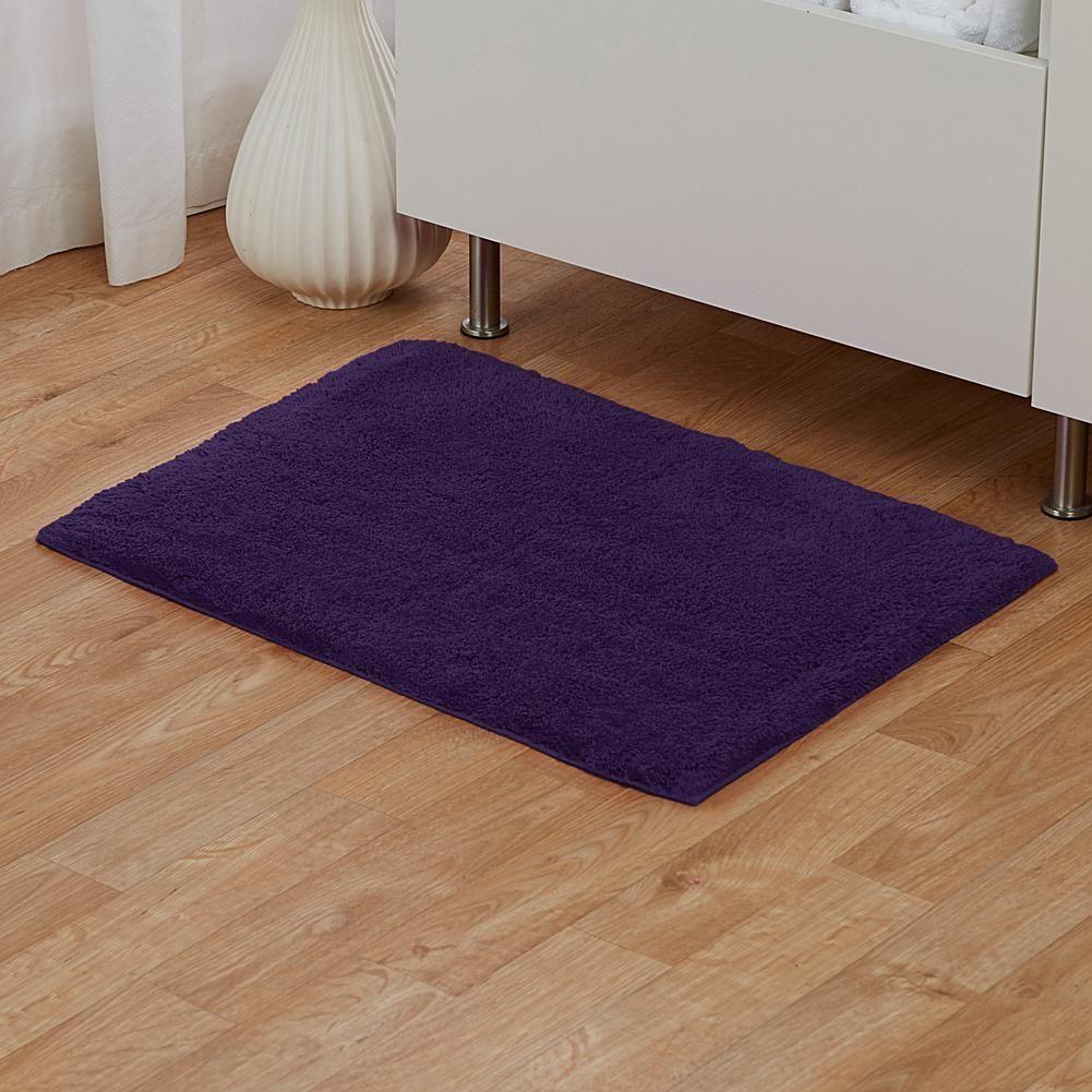 "joy plush large true perfection luxurious 21"" x 34"" bath rug 
