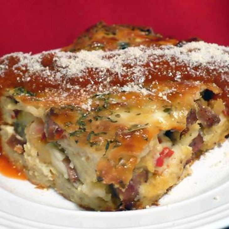 italian sausage cheese strata recipe recipe i like this for breakfast or brunch without the - Cheese Strata Recipes Brunch