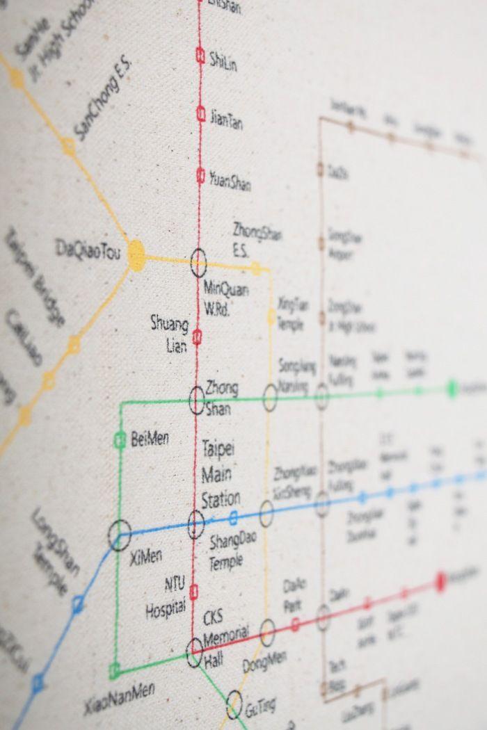1STORY | 歐式風情 舒活生活平面帆布袋 - 臺北捷運地圖(英文版)|canvas flat bag - taipei metro map (english) | Chart. Taipei ...