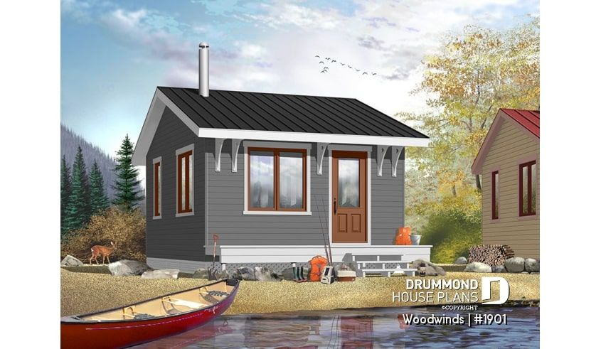 Discover The Plan 1901 Woodwinds Which Will Please You For Its 1 Bedrooms And For Its Cottage Chalet Cabin Styles Building A Small Cabin Cabin Plans House Plans
