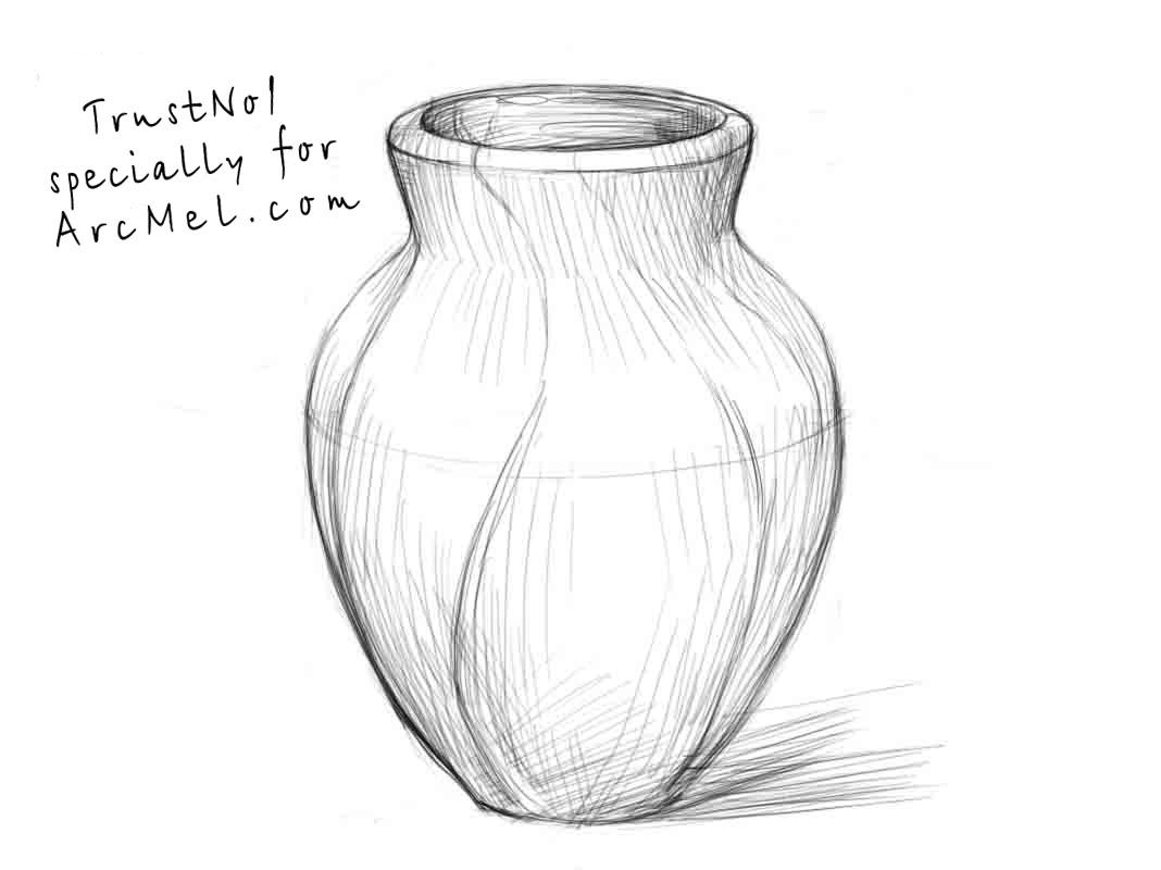 How To Draw A Vase Step 4 In