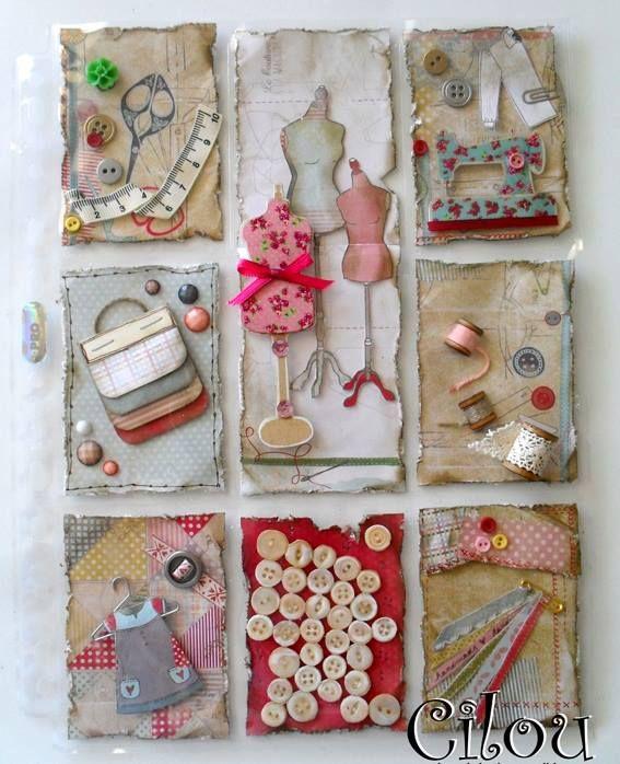Pocket Scrapbooking, Pocket Cards, Sewing