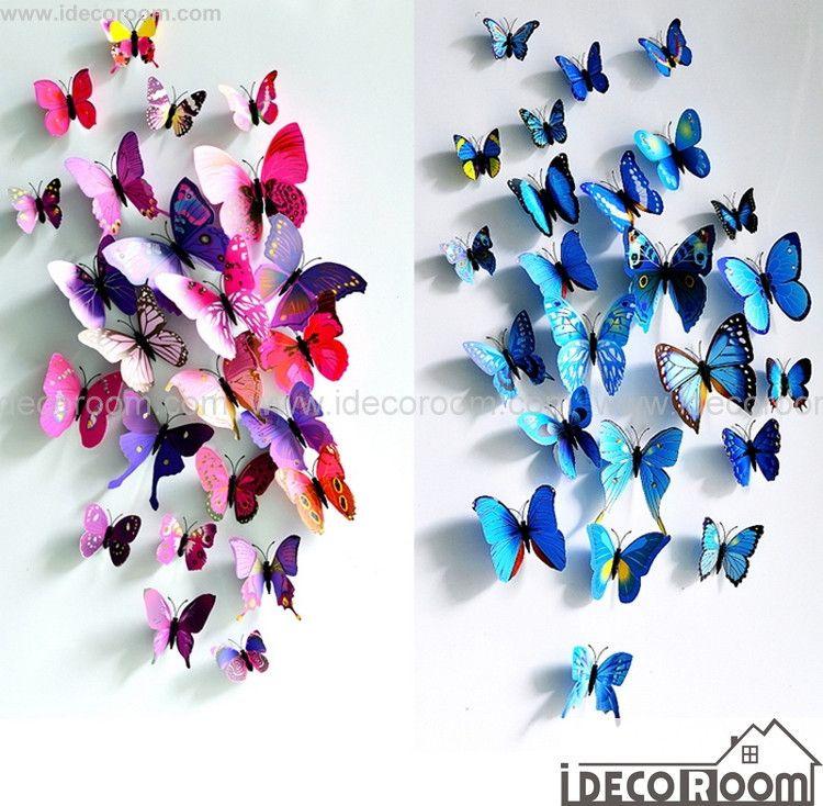 Magnetic Wall Decor 3d butterflies wall decals magnetic fridge wall decor | butterfly