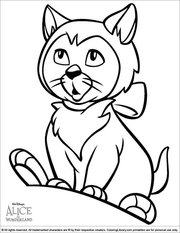 Alice in Wonderland coloring page | coloring pages | Cat ...
