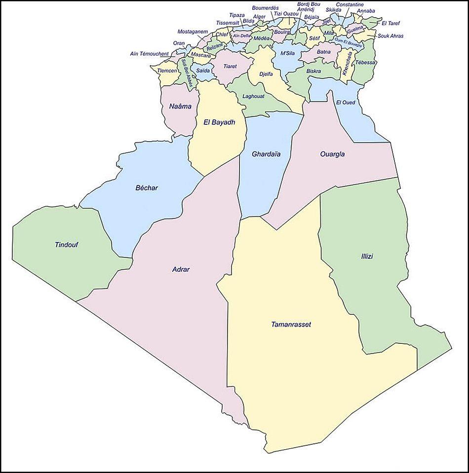 la carte d algérie Carte Algérie (avec images) | Carte algerie, Alger, Carte