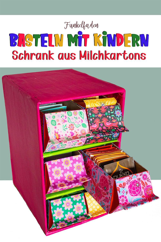 Basteln Mit Kindern 10 Einfache Bastelideen Funkelfaden Karton Basteln Milchkarton Basteln Recycling Basteln