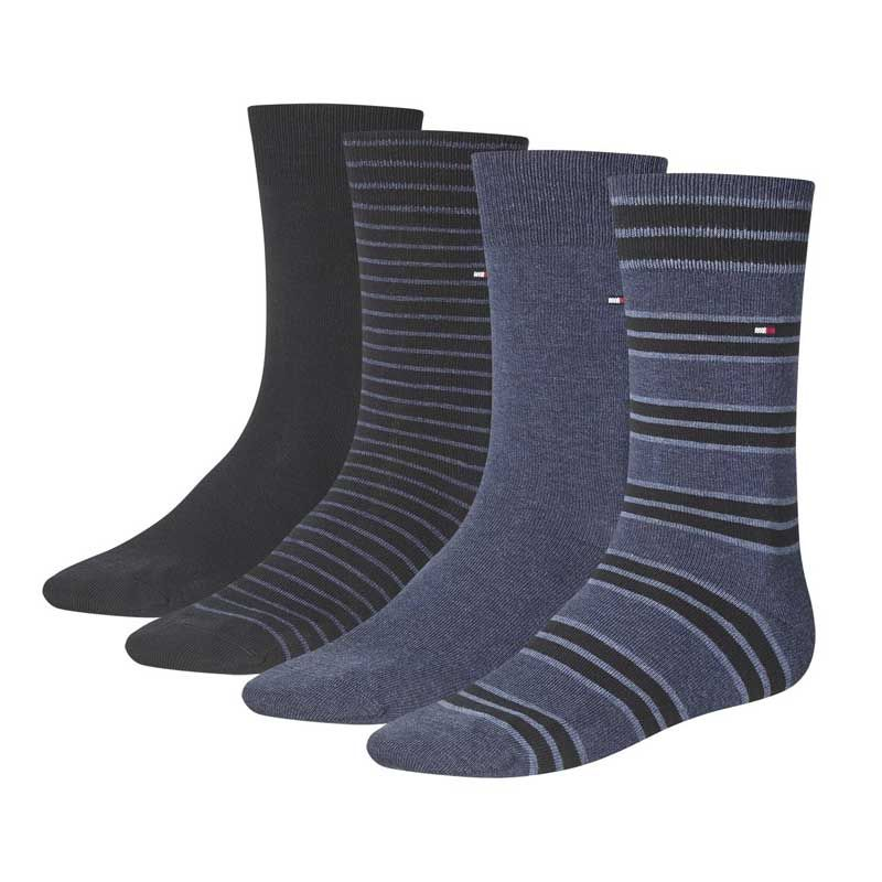 Tommy Hilfiger – 4-Pack Giftbox – Blauw – New Arrival Sokken 43 – 46