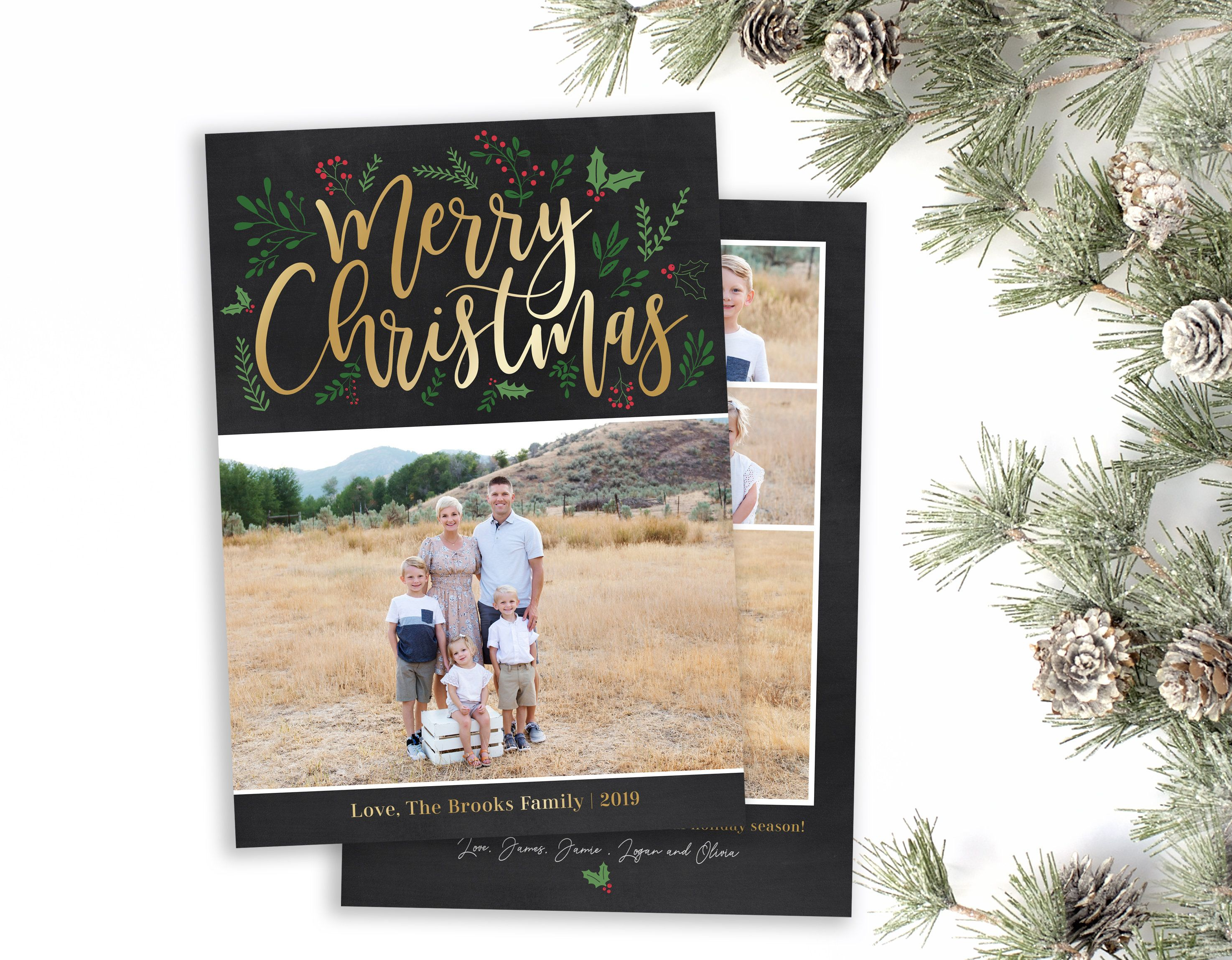 Pin On Christmas Card Template
